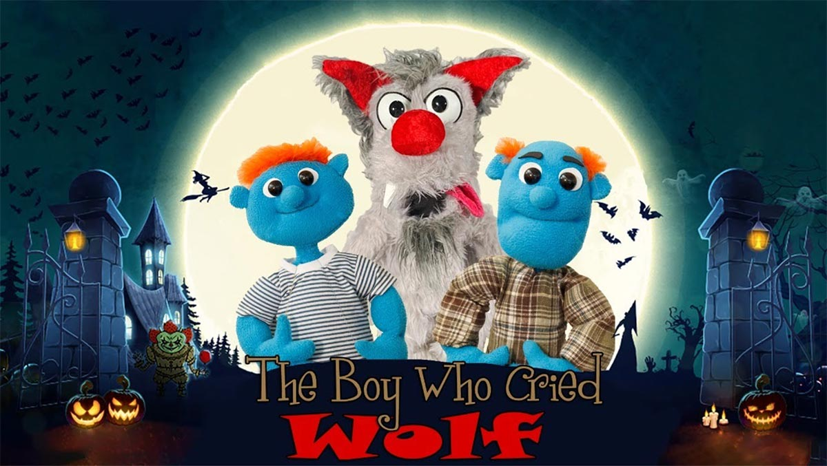 The Boy Who Cried Wolf virtual puppet show